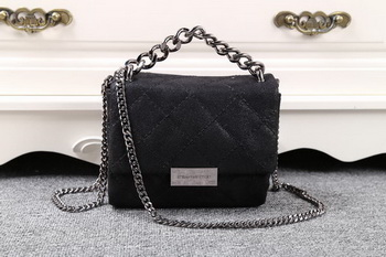Stella McCartney QUilted Denim Cross Body Bag SMC015 Black