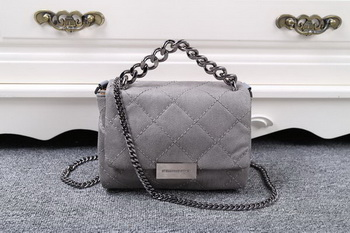 Stella McCartney QUilted Denim Cross Body Bag SMC015 Grey