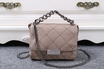 Stella McCartney QUilted Denim Cross Body Bag SMC015 Khaki