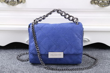 Stella McCartney QUilted Denim Cross Body Bag SMC015 Royal