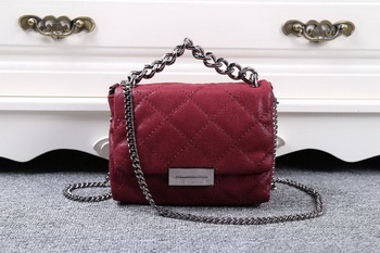 Stella McCartney QUilted Denim Cross Body Bag SMC015 Wine