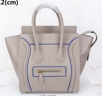 Celine Luggage Micro Tote Bag Original Leather CLY33081M Grey
