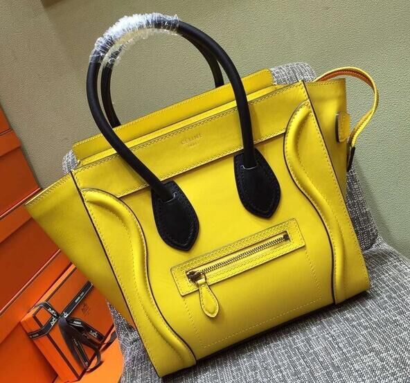 Celine Luggage Micro Boston Bag Original Leather CL3307 Yellow