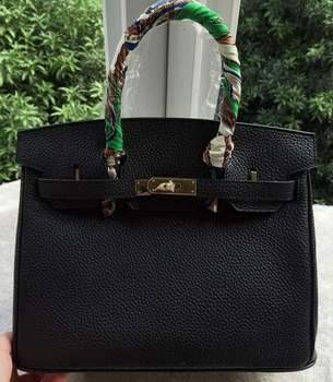 Hermes Birkin 30CM Tote Bags Black Calfskin Leather BK30 Gold