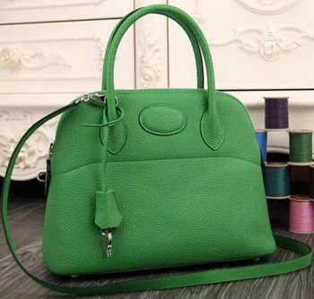 Hermes Bolide 37CM Calfskin Leather Tote Bag B1004 Green