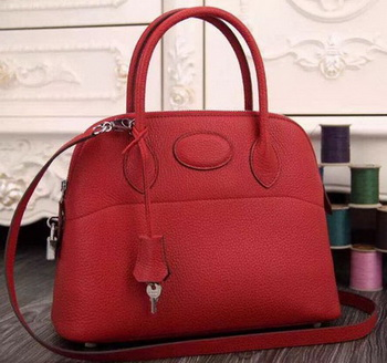 Hermes Bolide 37CM Calfskin Leather Tote Bag B1004 Red