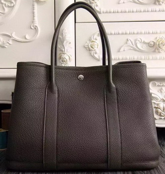 Hermes Garden Party 36cm 30cm Tote Bag Original Leather Dark Brown