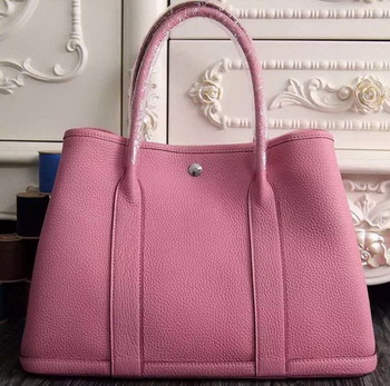 Hermes Garden Party 36cm 30cm Tote Bag Original Leather Pink