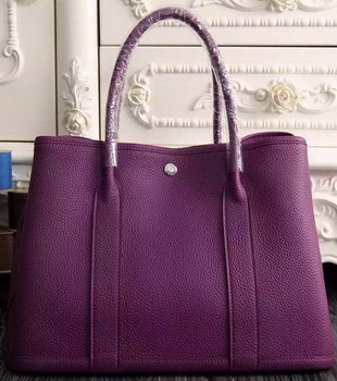Hermes Garden Party 36cm 30cm Tote Bag Original Leather Purple
