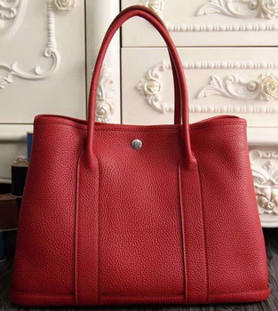 Hermes Garden Party 36cm 30cm Tote Bag Original Leather Red