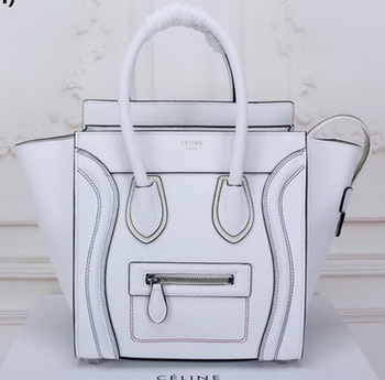 Celine Luggage Micro Tote Bag Original Leather CLY33081M White