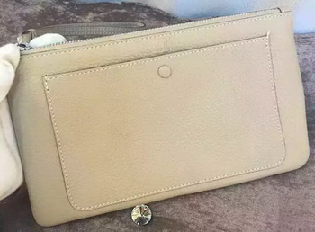Hermes Grainy Leather Clutch H88016 OffWhite