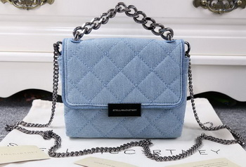 Stella McCartney QUilted Denim Cross Body Bags SMC015 Blue