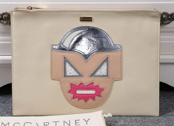 Stella McCartney SUPERHERO Medium ZIPPED CLUTCH SM891 Pink