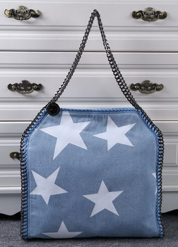 Stella McCartney Denim Tote Bag SM811 Star