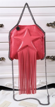 Stella McCartney Falabella Fringed Star Mini Tote Bag SM8855 Light Red