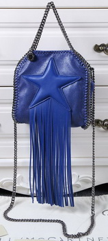 Stella McCartney Falabella Fringed Star Mini Tote Bag SM8855 Royal