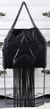 Stella McCartney Falabella Fringed Star Mini Tote Bag SM8865 Black