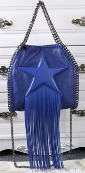 Stella McCartney Falabella Fringed Star Mini Tote Bag SM8865 Royal