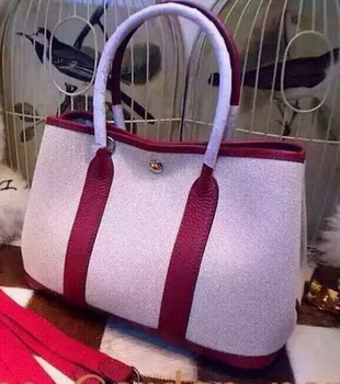 Hermes Garden Party 36cm Tote Bags Canvas HGP1927 Burgundy