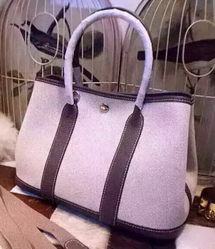Hermes Garden Party 36cm Tote Bags Canvas HGP1927 Grey