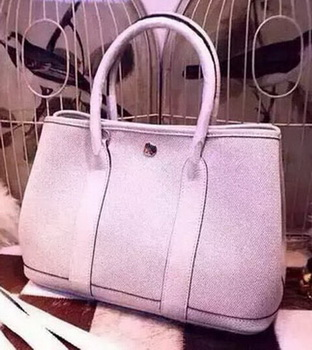 Hermes Garden Party 36cm Tote Bags Canvas HGP1927 White