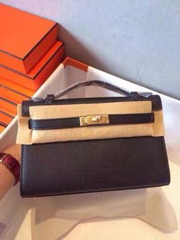 Hermes Kelly 22cm Tote Bag Original Leather KL22 Black