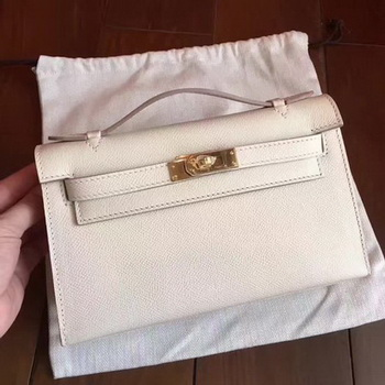 Hermes Kelly 22cm Tote Bag Original Leather KL22 White