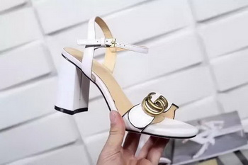 Gucci 80mm Sandal Sheepskin Leather GG1139 OffWhite