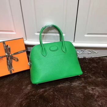 Hermes Bolide 31CM Calfskin Leather Tote Bag B3302 Green