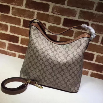 Gucci Miss GG Canvas Hobo Bag 414930 Apricot