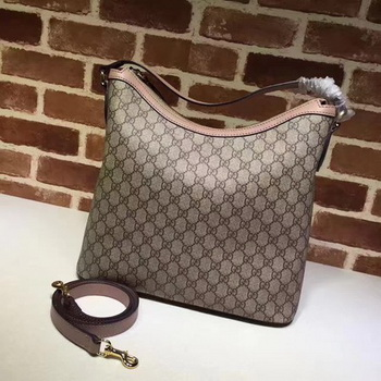 Gucci Miss GG Canvas Hobo Bag 414930 Pink