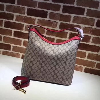 Gucci Miss GG Canvas Hobo Bag 414930 Red