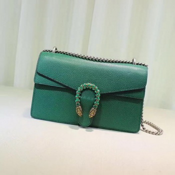 Gucci Dionysus Blooms Leather Shoulder Bag 400249 Green