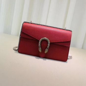 Gucci Dionysus Blooms Leather Shoulder Bag 400249 Red