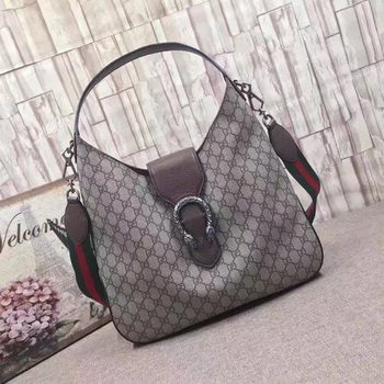 Gucci Dionysus Medium GG Supreme Hobo Bag 446687 Brwon