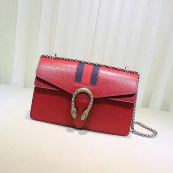 Gucci Dionysus Leather Shoulder Bag 400249 Red