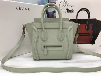 Celine Luggage Nano Tote Bag Original Leather CA3560 OffWhite