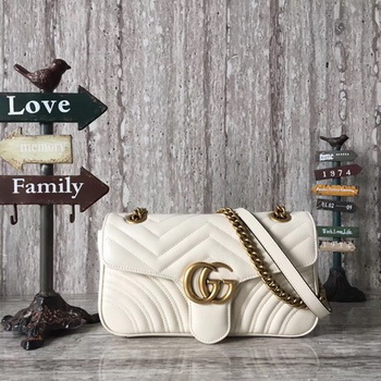 Gucci Now GG Marmont Matelasse Shoulder Bag 443496 OffWhite