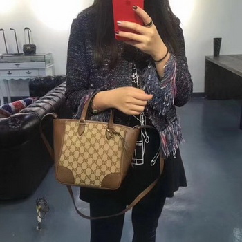Gucci Bree Original GG Canvas Top Handle Bag 353121 Brown