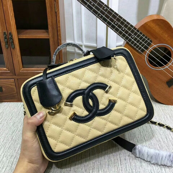 Chanel Calfskin Leather Shoulder Bag 6070 Camel
