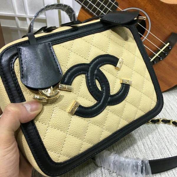 Chanel Calfskin Leather Mini Shoulder Bag 6070 Camel