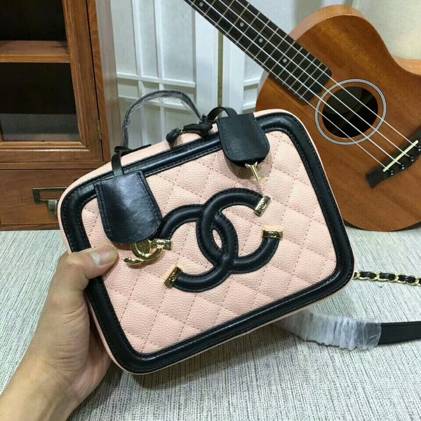 Chanel Calfskin Leather Mini Shoulder Bag 6070 Pink