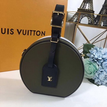 Louis Vuitton Calfskin Leather PETITE BOITE CHAPEAU M43510 Green