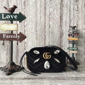 Gucci GG Marmont mini Bag 448065 Black