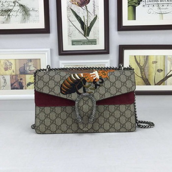 Gucci Dionysus GG Supreme Canvas Shoulder Bag 400249 Purple