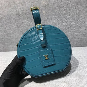 Louis Vuitton Croco Leather PETITE BOITE CHAPEAU M43516 Blue