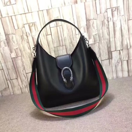 Gucci Dionysus Medium Leather Hobo Bag 446687 Black