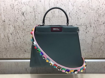 Fendi Peekaboo Small Bag Calfskin Leather FD26796 Green