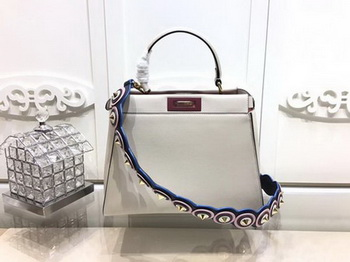 Fendi Peekaboo Small Bag Calfskin Leather FD26796 OffWhite